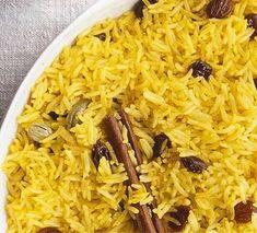 Yellow rice Bbc Good Food Recipes, Indian Food Recipes, Cooking Recipes, Yummy Food, Savoury Recipes, Cooking Videos, Meat Recipes, Free Recipes, Vegetarian Recipes