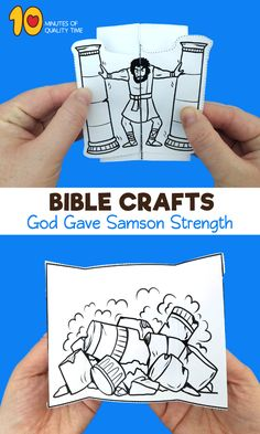 Samson Bible Craft Bible Study Crafts, Bible School Crafts, Bible Crafts For Kids, Preschool Bible, Bible Study For Kids, Bible Activities, Kids Church Lessons, Kids Sunday School Lessons, Sunday School Crafts For Kids