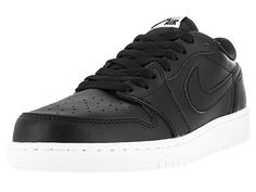sale retailer 8be41 ab792 Nike Jordan Kids Air Jordan 1 Retro Low Og BG Black White Basketball Shoe  6.5