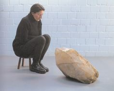 "oarv: "" Marina Abramović, Crystal Cinema I, clear quartz, wooden stool. Performance Art Theatre, Pop Art, Marina Abramovic, People Of Interest, Wooden Stools, Conceptual Art, Unique Photo, Fashion Art, Contemporary Art"