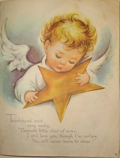In the end Touslehead stays up all night polishing her star and through perseverance it is her star that shines so brightly that it is a guide for the wise men on their way to Bethlehem. Her star is the Star of Guidance and the Star of Love.