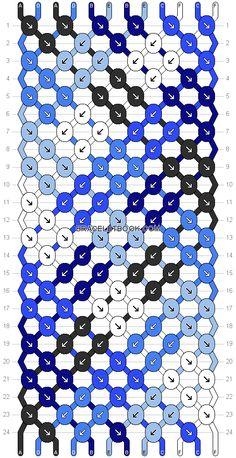 Bracelet Pattern #20239 - 12 Strings, 6 Colors