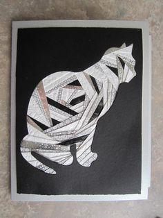 Cat Iris folding card by Carolyn Michelsen