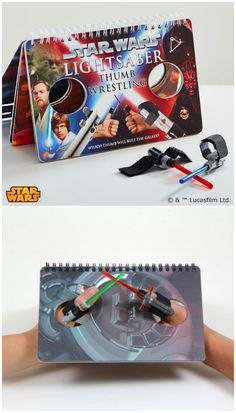 This Star Wars game in a book provides hours of fun for thumb-wrestling masters or their apprentices. Lightsabers with Velcro included.