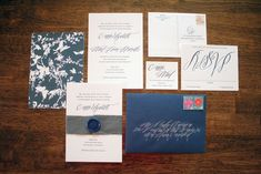 adore this letterpress suite from things are better with a parrott with lettering by betsy dunlap