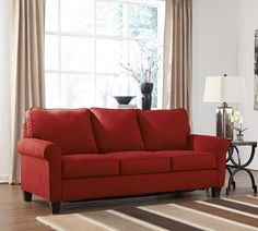 With clean and simple lines, the Zeth sofa is at home with many different styles of decor. The comfortably firm seat cushions provide the optimal level of suppo