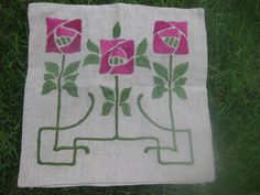 Vintage Stickley Era Embroidered Pillow Cover Classic Arts Crafts | eBay