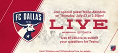 FC Dallas Live with forward Tesho Akindele. | Visit TheGinaMiller.com to learn how you can join the show.