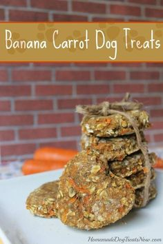 Banana Carrot Dog Treats - Homemade Dog Treats