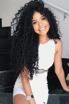 Rabake Hair Virgin Human Hair Brazilian Kinky Curly Virgin Hair 3 Bundles With Lace Closure,Double Weft, Softness, More Thicker Health End. Curly Hair With Bangs, Kinky Curly Hair, Black Curly Hair, Curly Wigs, Short Curly Hair, Hairstyles With Bangs, Curly Hair Styles, Black Hairstyles, Hair Trends