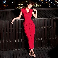 c1adb101e2d   48.32  Women s Solid Red Black Jumpsuits