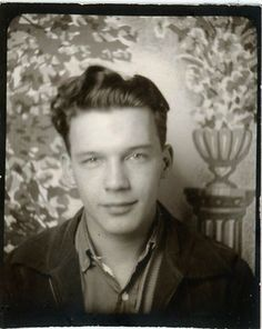 """Vintage Photo Booth Photo """"Young Man"""" ~ I could write a story just from his face ..."""