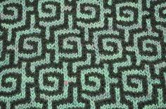 Nice mosaic knitting pattern. Slip stitch