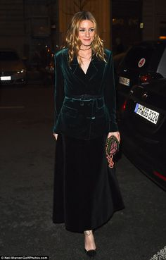 Olivia Palermo arrives at 'MANKO' restaurant on March 4 2017 in Paris France
