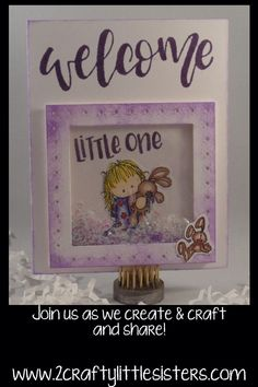 This fun shaker card was used with Letter It Baby stamp set and a whipper snapper stamp. Pop Up Cards, Cool Cards, Diy Cards, Tim Holtz Stamping Platform, Slider Cards, Create And Craft, Card Tutorials, Little Sisters, Card Templates