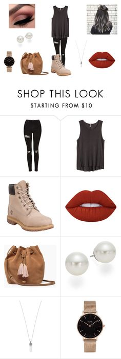 """""""C.F"""" by halfofourheart ❤ liked on Polyvore featuring Topshop, H&M, Timberland, Lime Crime, UGG, AK Anne Klein, Marc Jacobs and CLUSE"""