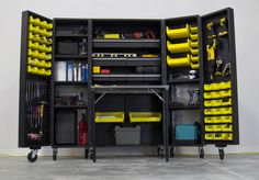 Very cool as it closes nicely when not used - New type of garage storage from the metalworkbox.com