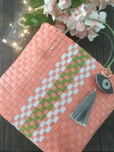 SOIE | Asesoría de Imagen | Collares | Colombia - Tienda Online | Zuncho Bag Coral & Green @soie_co SOIÈ SOI•È #soie Picnic Blanket, Outdoor Blanket, Coral, Collars, Green, Bags, Key Fobs, Totes, Decorative Accessories