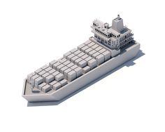 Isometric Ship by Pixego   Abduzeedo Design Inspiration