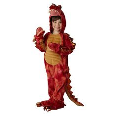 Kids Hydra the 3-Headed Dragon Costume, Boy's, Size: Medium, Red