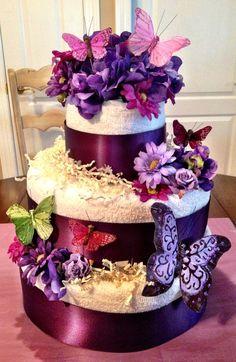 Summer Bridal Shower Towel Cake by PartyGirlNYC on Etsy