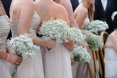 baby's breath bouquets. simple and lovely.