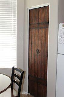 Turning Bi-Fold Doors into Faux Barn Door {Tutorial}