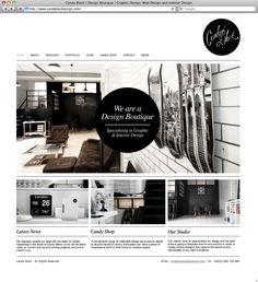 The Portfolio of Candy Black, a Design Boutique specializing in Graphic  Interior Design   #portfolio #website #designstudio   www.candyblackdesign.com