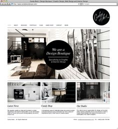 The Portfolio of Candy Black, a Design Boutique specializing in Graphic  Interior Design | #portfolio #website #designstudio | www.candyblackdesign.com