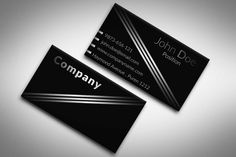 112 best black business cards templates images on pinterest black elegant black and white business card template suitable for any kind of business this friedricerecipe Gallery