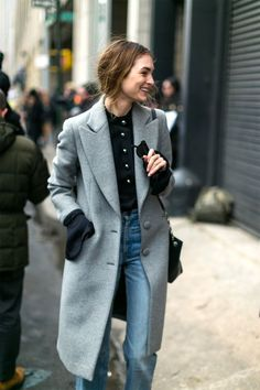 Grey structured coat
