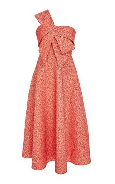 Lela Rose Bow Front Strapless Dress In Red Pink Dress Outfits, Rose Pink Dress, Preppy Dresses, Girly Outfits, Casual Dresses, Kpop Fashion Outfits, Fashion Dresses, After 5 Dresses, Rose Clothing