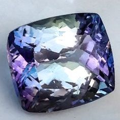 IGEC Certified - Natural 4.80ct TANZANITE Zoisite VIOLET BLUE GREEN Faceted Gemstone