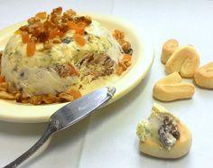 Terrine de gorgonzola com nozes e damasco