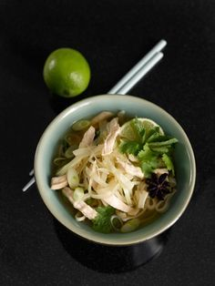 Thai cabbage and chicken noodles. mmmmm