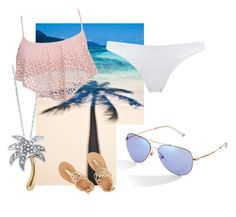 """beach everyday"" by jjbear on Polyvore featuring Gucci, Palm Beach Jewelry, 99 Degrees, Prism and Ancient Greek Sandals"