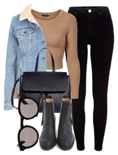 """Untitled #6330"" by laurenmboot ❤️ liked on Polyvore featuring River Island, Topshop, Mansur Gavriel, Illesteva and Acne Studios"