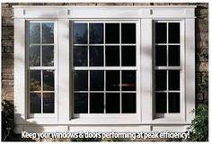 Andersen® 400 Series Energy Efficient Woodwright® Double-Hung Windows by Andersen Windows, via Flick Sunroom Windows, Wood Windows, Living Room Windows, House Windows, Windows And Doors, Vinyl Windows, Front Windows, Exterior Windows, Pella Windows