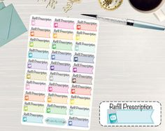 26 colorful doctors appointment stickers perfect for your planner! These stickers were designed with the Erin Condren Life Planner in mind, but can easily work in a variety of different planners including the Plum Paper Planner, Happy Planner, Lily Pulitzer, and more. They can also double as scrapbook supplies or for a wide assortment of craft projects. Crafted and kiss cut on high quality sticker paper, all you need to do is peel and place into the planner of your choice for effortless…