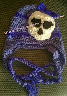 Avea Trotter from Monster High inspired crochet hat ~ made by Nancy Legere