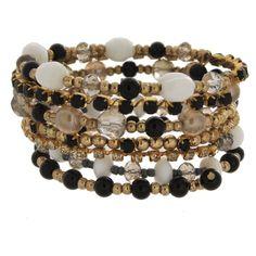 Women's Beaded Bracelets - Gold/Black