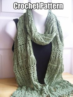Excited to share this item from my shop: Crochet Pattern for Hairpin Lace and Shell Scarf /Wrap Hairpin Lace Crochet, Hairpin Lace Patterns, Knit Or Crochet, Crochet Scarves, Crochet Shawl, Crochet Edgings, Crochet Motif, Freeform Crochet, Shawl