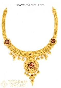 22K Gold Necklaces for Women and Gold Chain Necklaces - View our collection and buy Online Indian 22K gold necklaces for women, made in India - Ships from New Jersey - USA