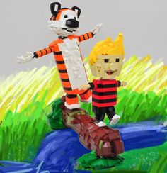 This LEGO build of Calvin and Hobbes will whisk you back to your care-free days of childhood.