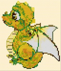 Cross Stitch | Baby Dragon xstitch Chart | Design
