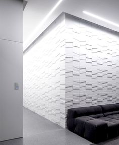 Layers of White   Penthouse Located in Tel Aviv discreet lighting arrangements