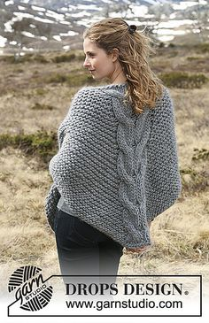 Ravelry: Home on the Range pattern by DROPS design Claire Outlander, Home On The Range, Circular Needles, Drops Design, Garter Stitch, Needles Sizes, Ravelry, Pullover, Sewing