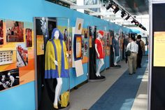 Seattle's Museum of Flight.  An exhibit on Stewardess uniforms from the glory days in air travel.