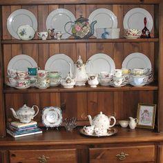 My vintage English bone china teacups. Teacups, Bone China, China Cabinet, Pottery, English, Storage, Glass, House, Vintage