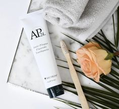 Removes tough stains from coffee, red wine, cigarettes and all your other sins. AP 24 restores teeth's natural whiteness, with visible results in days. Nu Skin, Ap 24 Whitening Toothpaste, Whitening Fluoride Toothpaste, Get Whiter Teeth, Clean Teeth, Dental, White Teeth, Anti Aging Skin Care, Beauty Care